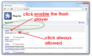 Enable Chrome Flash